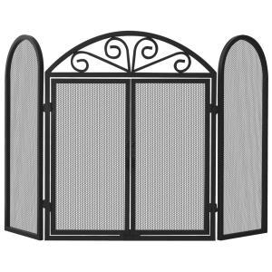 "52"" 3 Fold Screen With Doors"