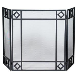 "52"" 3 Fold Screen With Diamond Design"
