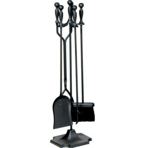 "31"" 5 Piece Fireset With Ball Handle and Pedestal Base"