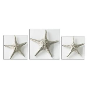 Starfish - 15 Inch Decorative Wall Art (Set of 3)