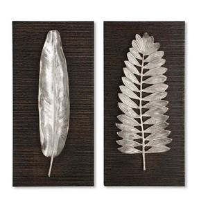 Silver Leaves - 24 inch Wall Art