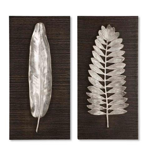 Uttermost 04001 Silver Leaves - 24 inch Wall Art