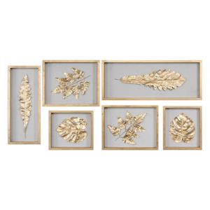 Golden Leaves - 28 Inch Shadow Box (Set of 6)