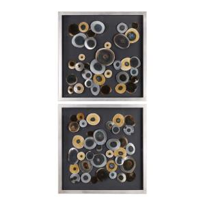 Discs - 32 Inch Wall Art Square (Set of 2)