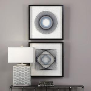 String Duet - 23.63 Inch Geometric Wall Art (Set of 2)