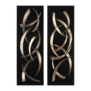 Brushstrokes - 46.75 Inch Metal Wall Art (Set of 2)