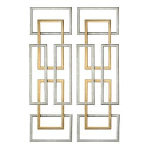 Aerin - 50.63 Inch Geometric Wall Art (Set of 2)