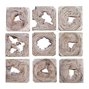 "Bahati - 16"" Wall Art (Set of 9)"