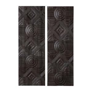 Asuka - 59.88 Inch Carved Wood Wall Panel (Set of 2)