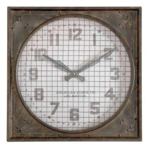 """Warehouse - 26"""" Wall Clock with Grill"""