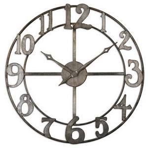 Delevan - 32.25 inch Metal Wall Clock