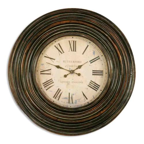 "Uttermost 06726 Trudy - 38"" Wooden Wall Clock"