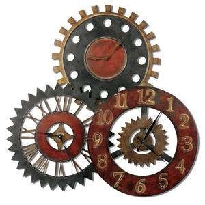 "Rusty Movements - 35.25"" Wall Clock"