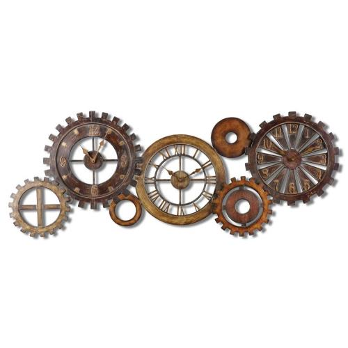 "Uttermost 06788 Spare Parts - 54"" Wall Clock"