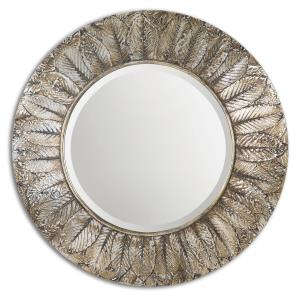 Foliage - 36 inch Round Mirror - 36 inches wide by 2.25 inches deep