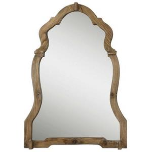 "Agustin - 30.25"" Wood Arch Mirror"