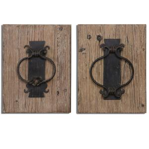 Rustic Door Knockers - 16.25 Inch Wall Art (Set of 2)