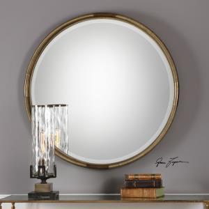 Finnick - 35.63 inch Iron Coil Round Mirror