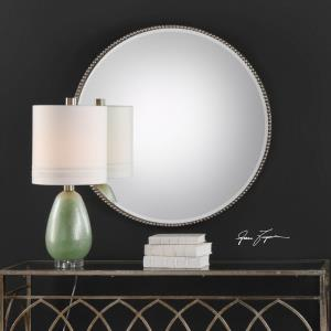 Stefania - 40 inch Beaded Round Mirror