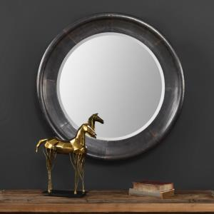 Reglin - 30.5 inch Round Mirror - 30.5 inches wide by 4 inches deep