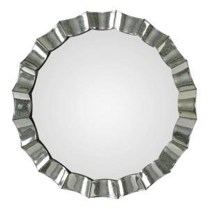 "Sabino - 39""  Scalloped Round Mirror"