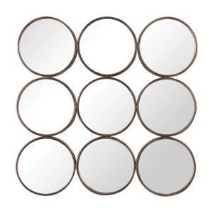 Devet - 35.5 inch Welded Iron Rings Mirror