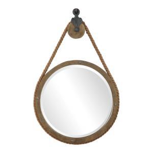 Melton - 36.5 inch Round Pulley Mirror