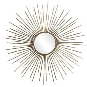 Golden - 46.88 Inch Starburst Mirror