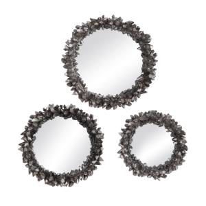 Galena - 16.5 Inch Round Mirror (Set of 3) - 16.5 inches wide by 3.25 inches deep