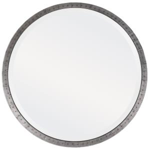 Bartow - 32.75 inch Industrial Round Mirror - 32.75 inches wide by 1.63 inches deep