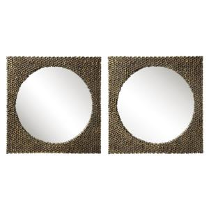 """The Hive - 18"""" Square Mirror (Set of 2)"""