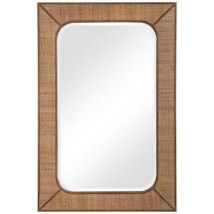 Tahiti - 42 Inch Rectangular Rattan Mirror