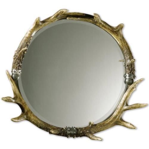 Uttermost 11556 Stag Horn - Round Mirror Frame