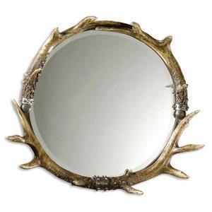 Stag Horn - Round Mirror Frame