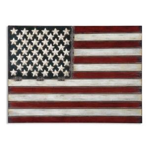 "American Flag - 25.75"" Metal Wall Art"
