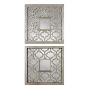 Sorbolo - 20 inch Square Decorative Mirror (Set of 2) - 20 inches wide by 0.75 inches deep