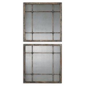 "Saragano - 19"" Square Mirror (Set of 2)"
