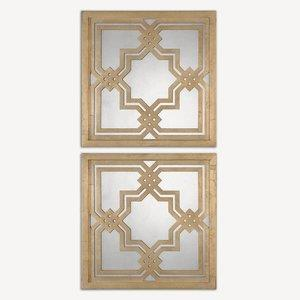 Piazzale Squares - 19.75 inch Square Mirror (Set of 2)
