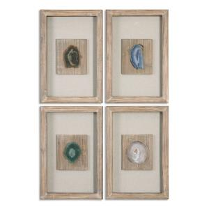 "Agate Stone - 21"" Decorative Wall Art (Set of 4)"