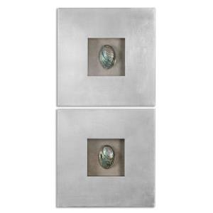 Abalone Shells - 19.63 inch Wall Art (Set of 2)