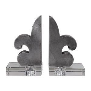 Lily - 8.5 inch Fleur-De-Lis Bookends (Set of 2)