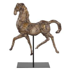 """Caballo - 16.5"""" Dorado Horse Sculpture"""