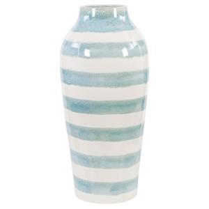 "Ortun - 25.6"" Striped Vase"