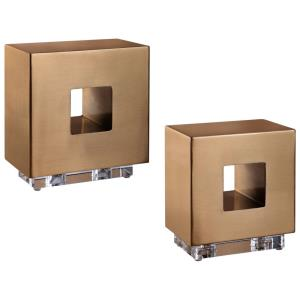 "Rooney, - 8"" Cube (Set of 2)"