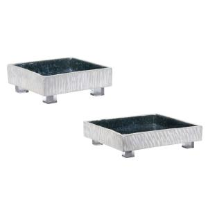 "Ambretta - 12"" Square Bowl (Set of 2)"