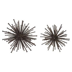 Aric - 8.5 inch Nail Sphere (Set of 2)