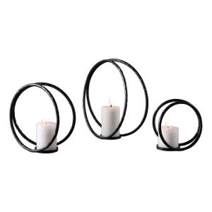 "Pina - 12.5"" Curved Candleholder (Set of 3)"