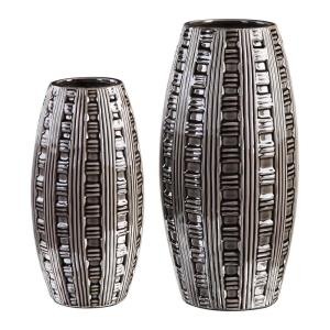 Aura - 15.75 inch Weave Pattern Vase (Set of 2)