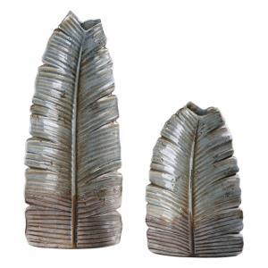 "Invano - 19.25"" Leaf Vase (Set of 2)"