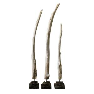 "Teak Branches - 40"" Statue (Set of 3)"